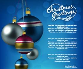 2014 Merry Christmas decor ball vector background 05