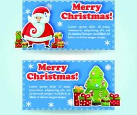 2014 Merry Christmas vector cards 01