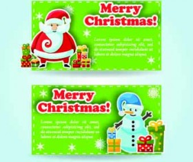 2014 Merry Christmas vector cards 02