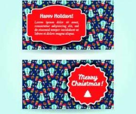 2014 Merry Christmas vector cards 03