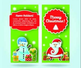 2014 Merry Christmas vector cards 04