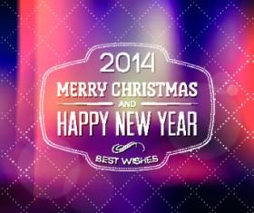 2014 Merry Christmas frames background vector 01