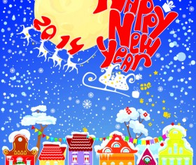 2014 New Year City vector 02