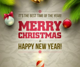 2014 Xmas poster backgrounds vector 01