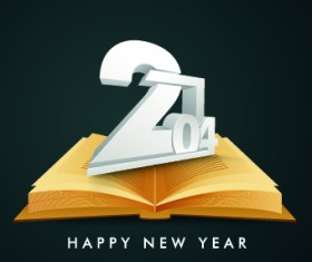 2014 New Year Text design background vector 01