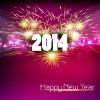 2014 New Year Text design background set 02