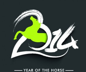 2014 New Year Text design background vector 03