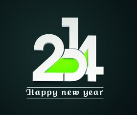 2014 New Year Text design background vector 04