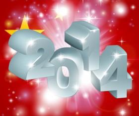 2014 New Year creative design vectors 01