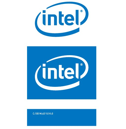 intel logo vector vector logo free download