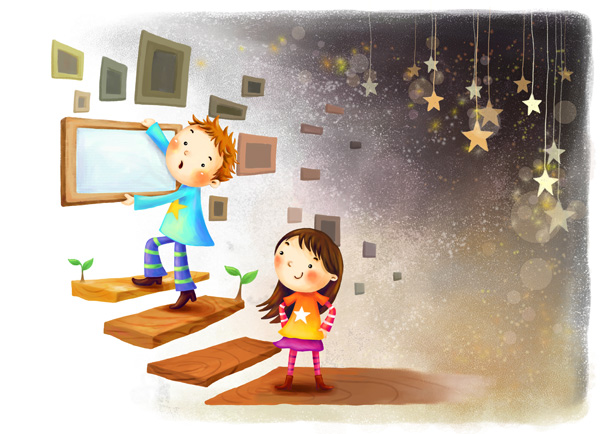 Cartoon Children psd background - Backgrounds PSD File free download