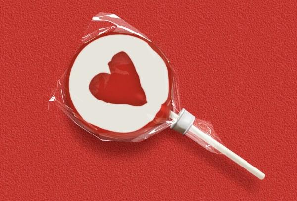 Heart Lollipop psd graphic