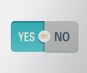 Yes or No psd button