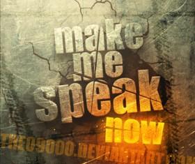 Crack text creative poster psd