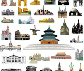 World Architecture vector