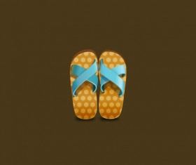 Slippers psd graphic
