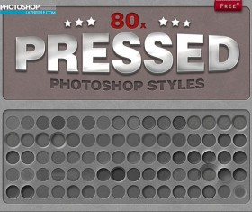 80 Kind Pressed Photoshop Style