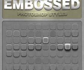 80 Kind Embossed Photoshop Styles