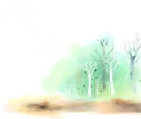 Hand drawn tree psd