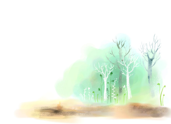 Hand drawn tree psd