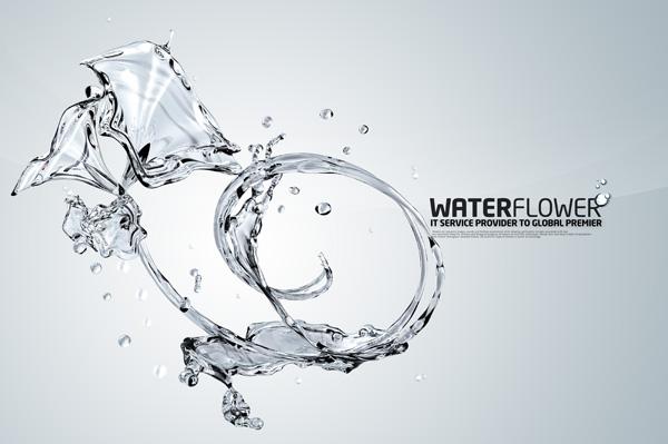 Water flower psd material