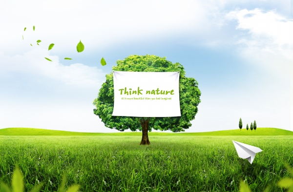 Green Nature psd background