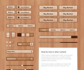 Wood UI kit psd material