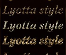 Gloden Decor text style