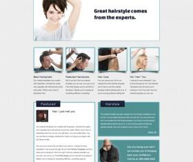 Hair Design website psd template