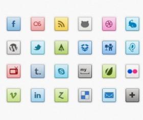 Shiny web media icons psd
