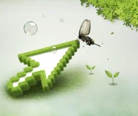 Green Natural psd background