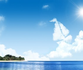Beautiful sea psd background