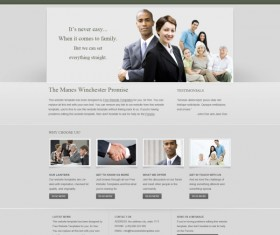 Creative Business website psd template