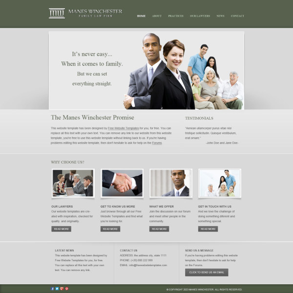 Creative Business website psd template - PSD Templates, Web ...