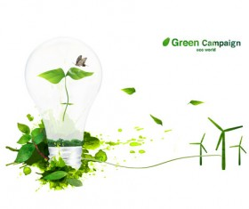 Green eco world psd background