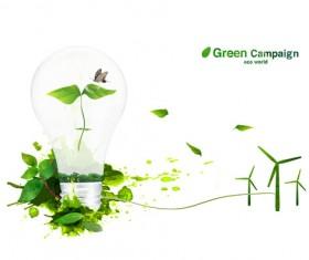 Green eco world psd background