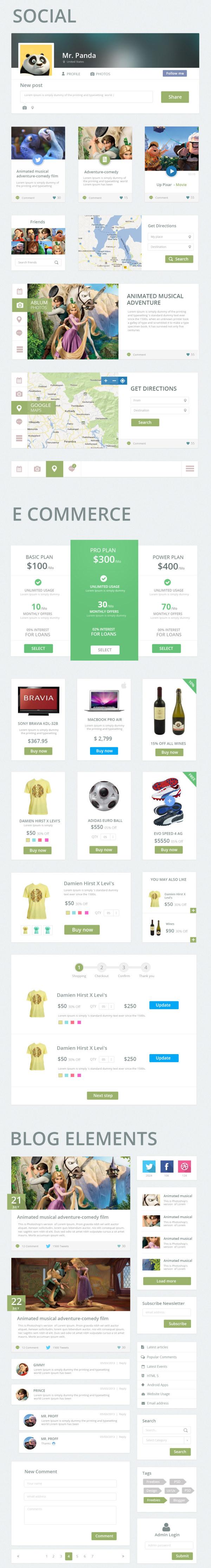 Creative web UI kit psd 01