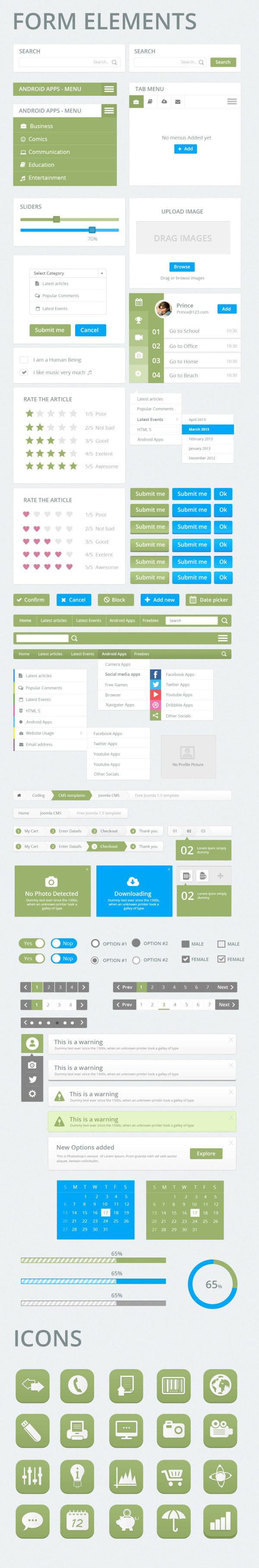 Creative web UI kit psd 02