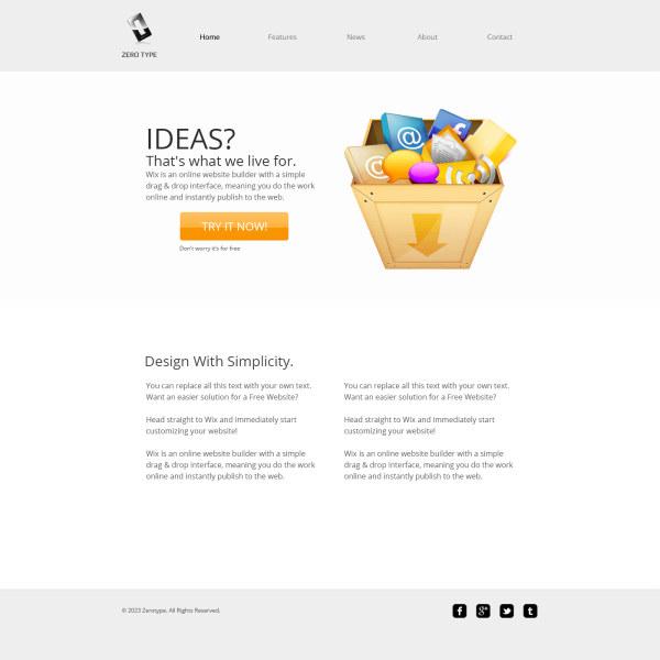 Modern E commerce Website psd template