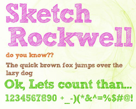 Cartoon crayon fonts