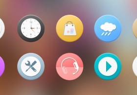 Cute colored Phone icon psd