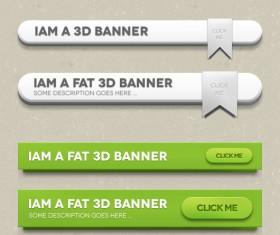 Free psd 3D Banner