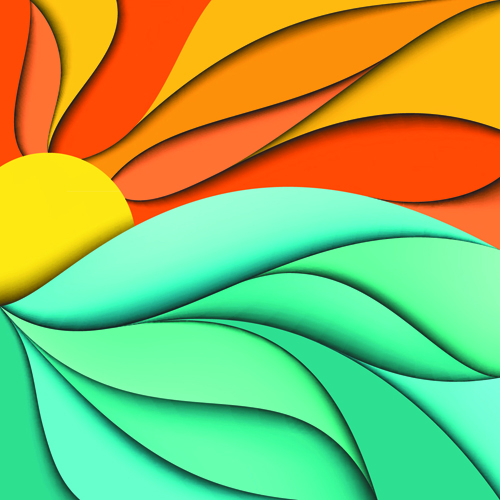 Abstract fashion backgrounds vector set 08