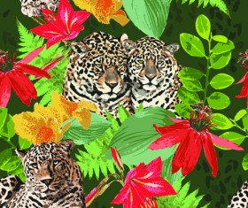 Wild Animals seamless pattern vector 01