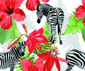 Wild Animals seamless pattern vector 03