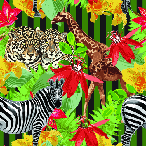 Wild Animals Seamless Pattern Vector 40 Free Download Enchanting Animals With Patterns