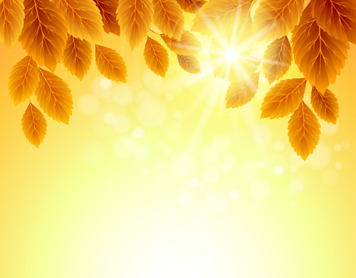 Autumn Golden Yellow Background Vector 02 Free Download