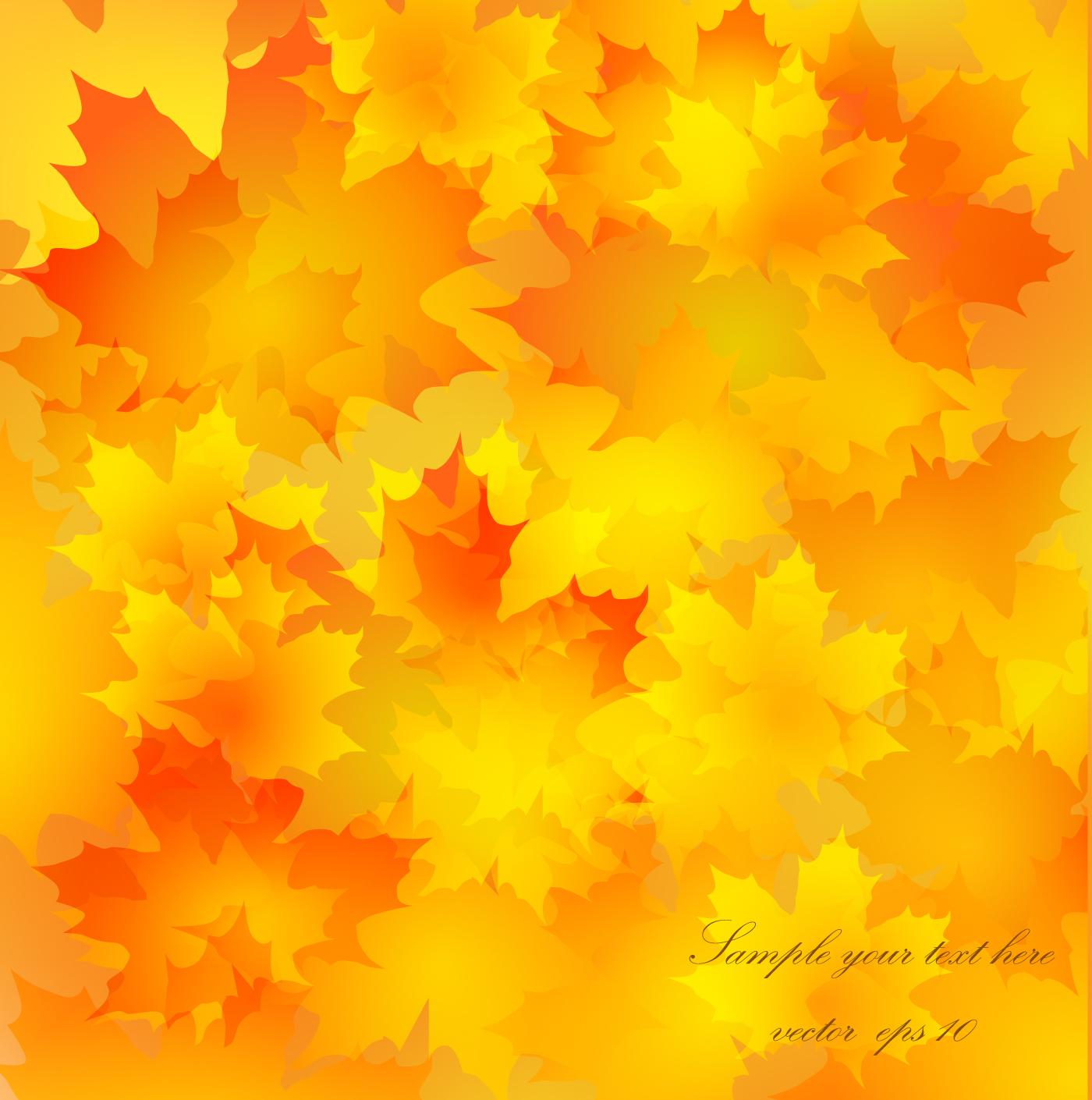 Спокойной ночи, открытка с желтыми листьями