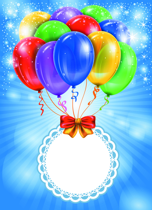 Happy Birthday Colorful Balloons Background Set 03 Free Emoticon For Facebook Emoji Fb