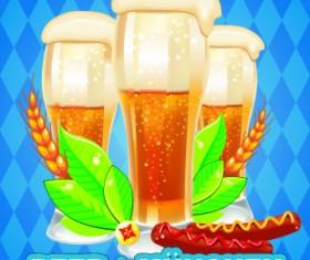 Beer design background vector 01
